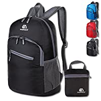 Foldable Rucksack Outdoor Packable Backpack Ultralight Waterproof Sport Bag Travelling Climbing Hiking Cycling Rucksack Daypack- 18L (black)