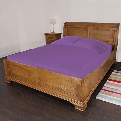 gyptische Baumwolle Fadendichte 300Solid 18Zoll-tiefe Tasche Spannbettlaken twin-xl Größe violett ()