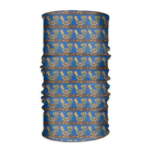 Wfispiy Unisex Ethnic Cock Multifunction Bandana Stirnband Athletic Headwear Sweatband,Magic Scarf,Neck Balaclava,Helmet Liner,Tube Mask,UV Resistence Outdoor Sport Yoga