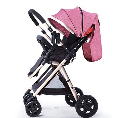 MRXUE High Landscape Stroller Leichtgewicht faltendes Vierrätchen kann Lising-Baby-Zwei-Wege-Stroller,#8