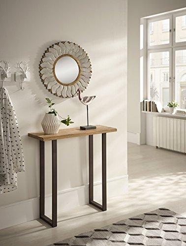 Hogar24 es hogar24-mueble ingresso legno massiccio e gambe in metallo, stile industriale vintage. collezione 75x 116x 29cm di fondo