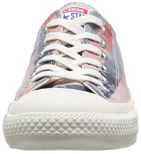 Converse Chuck Taylor Bar & Stars Jaquard, Baskets mode mixte adulte Multicolore (Rouge/Bleu)