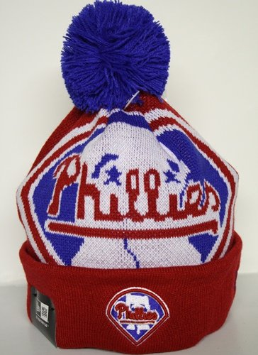 Philadelphia Phillies New Era MLB Woven Biggie Cuffed Knit (Philly Hats)