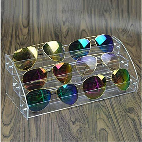 WSDSHH Multi Schichten Schmuck Organizer Acryl Stehen Nagellack Regal Brillen Brillengestell Rack Display Sonnenbrille Frauen Aufbewahrungsbox3 Schicht
