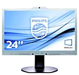 Philips 241P6QPJKES/00 61 cm (24 Zoll) Monitor (IPS, LED, 1920 X 1080 Pixel, Webcam)