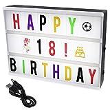 ISWEES A4 Gestaltbar LED Kino Leichte Box, Leuchten Ihrem Leben, Filmischen Licht Box Leuchtschilder, Leuchtkasten mit 208pcs flexiblen Schwarzen und Farbe Englische Buchstaben, Nummer, Emojis (Light Box)