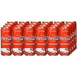 Coca-Cola Classic, Pure Erfrischung mit unverwechselbarem Coke Geschmack in stylischem Kultdesign, 24 x 330 ml Dose, EINWEG