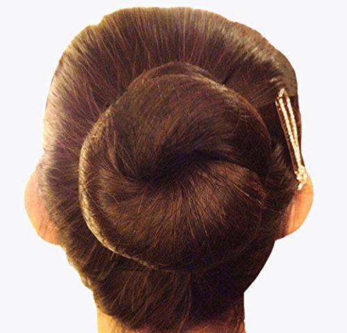Unsichtbare Haarnetze mit elastischem Rand, 50-cm-Netz zum Fixieren der Haare (10Stück) coffee 10pcs