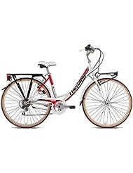 """City silver life Torpado bicicleta 26"""" mujer alu 6 V blanco (City)/bicycle City silver life 26"""" lady white alu 6 V (City)"""