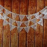 Musuntas 12 cordón flores de jardín banderín de la dulce guirnalda Triguero Triguero banderines de colores decoración para fiestas de cumpleaños al aire libre del partido 3.2m