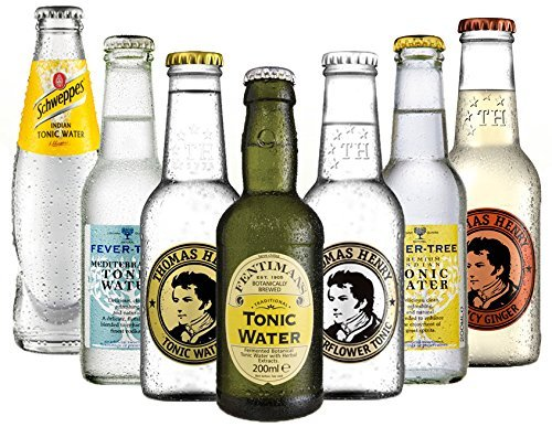 Tonic Set Schweppes, Fever Tree Indian + Mediterranean ,Fentimans, Thomas Henry Tonic und Elderflower  Thomas Henry Spicy a 200ml inc. MEHRWEG + EINWEG Pfand -
