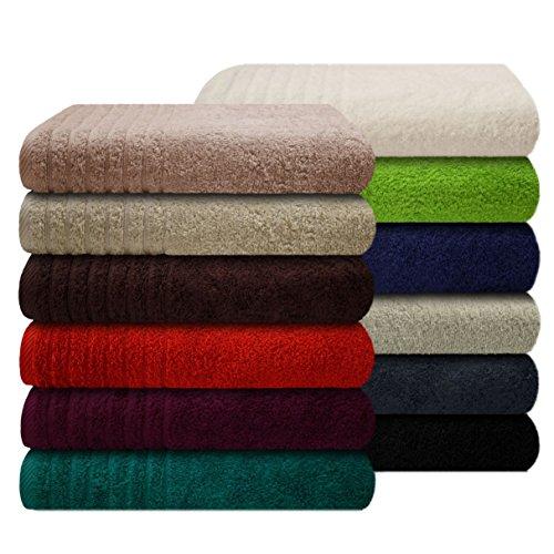 Gallant ® Gästetuch / Gästetücher 30 x 50 cm uni blau Frottee Qualität 565 g/m² 100 % Baumwolle in weiteren Farben und Größen erhältlich