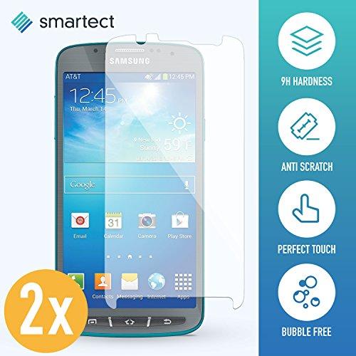 SmarTect 2X Protector de Pantalla de Cristal Templado para Samsung Galaxy S4 Active Lámina Protectora Ultrafina de 0,3mm | Vidrio Robusto con Dureza 9H y Antihuellas Dactilares