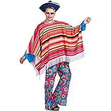 EraSpooky Hombre Poncho Mexicano Salvaje Disfraz