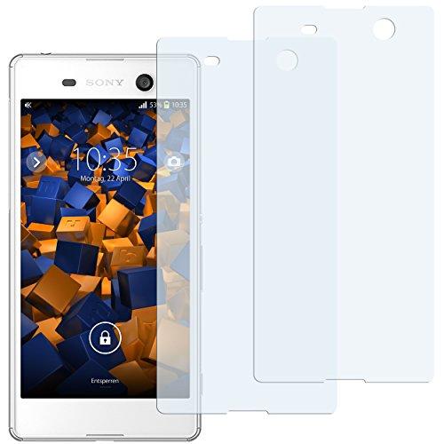 mumbi Schutzfolie kompatibel mit Sony Xperia M5 Folie klar, Bildschirmschutzfolie (2x)
