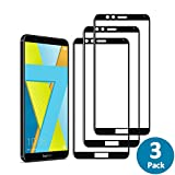 Widamin 3Pack,Huawei Honor 7X Screen Protector,Full Coverage film,Lifetime Warranty,Crystal Clearity,No-Bubble and fingerprints easy to clean-Black
