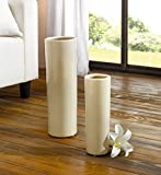 Moderne Keramik Deko-Vase 'Creme' im 2er Set