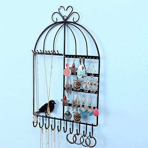 CQ Tieyi Kreative Halskette Ohrringe Nagel Rack Wandbehang An Der Wand Schmuck Sammlung Box Schmuck Display Regal Prinzessin (Color : Black) -