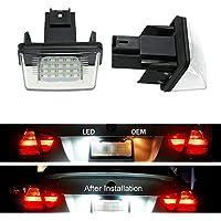HUAYIN brillante Luz de la matrícula del coche led 6000K llevó la luz de la matrícula Car led licence plate light