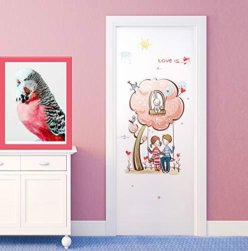 Preisvergleich Produktbild Yirenfeng Tierkarikaturaufkleber Auf Der Tür Des Kindergartenklassenzimmers J