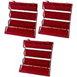 atorakushon Velvet Maroon Women's 12 Pair Earring Storage Box Jewellery Wedding Organizer Travelling Box Pack of 3