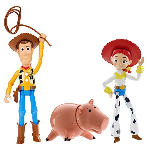 Disney / Pixar Toy Story Andy`s Imagination Figuren- Set : Hamm, Jessie, Woody - Mattel