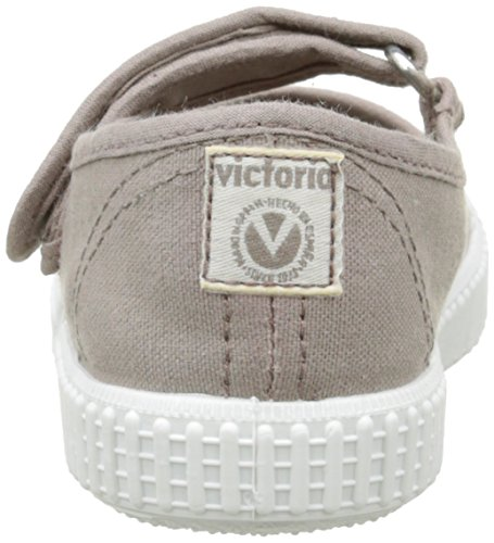 Victoria Mercedes Velcro Lona Tintada, Baskets Basses Mixte Enfant Marron (88 Stone)