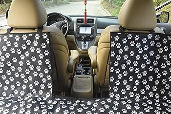 LENEZARO Housse de Siège pour Chien avec Fenêtre de VisualisationCouverture Siège de Voiture Imperméable en Tissu Oxford Hamac Voiture Universelle pour Voiture Camion SUV