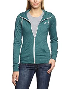 nike veste sweatshirt aw77 time out pour femme vert vert 34 sports et loisirs. Black Bedroom Furniture Sets. Home Design Ideas