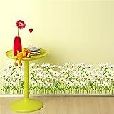 AdornHome Wandtattoo Wandsticker Wandaufkleber Wandbilder Korridor des weißen Gänseblümchens Gang Glasschiebetür-Schlafzimmer Bett-Kopf 50 * 70CM
