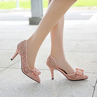 Zormey Frauen Heels Fr¨¹hling Sommer Herbst Synthetische Wedding Dress Party & Amp Abends Stiletto Heel Bowknot Schwarz Rot Pink Almond US8 / EU39 / UK6 / CN39