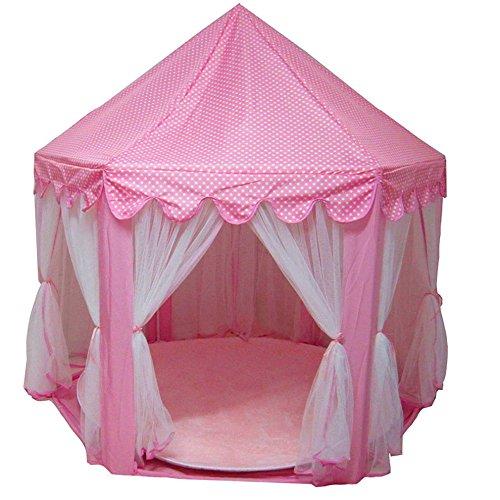 Hexagon Prinzessin Castle Übergroßen Tüll Kinder Zelt Spiel Haus Spielzeug Haus Anti-Moskito-Netze,Pink