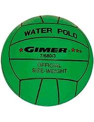 Gimer waterpolo, balón Unisex Niños, Verde, número 3