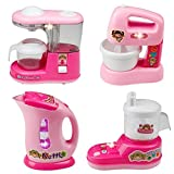 #9: higadget™ Electronic Household Kitchen Appliances Play Set Toy, Set of 4