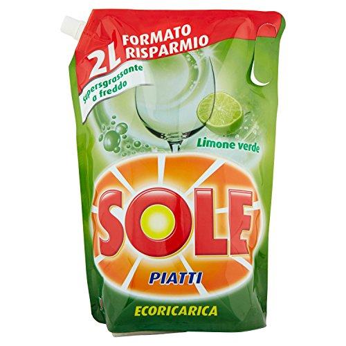Detergente líquido carga ecológica platos Lemon