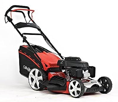 BULKSTON Benzin-Rasenmäher BS 508 H - HONDA Motor - Benzin-Mäher (Schnittbreite 51 cm, 65 Liter Fangkorbvolumen, 6-fache Schnitthöhenverstellung 25-75 mm, Radantrieb)