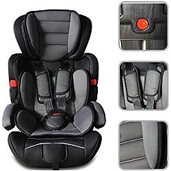 Autoelevador Silla de coche de para bebé desde 9 meses hasta 12 años - Asiento de seguridad de Grupo I / II / III (9 - 36 kg) - color negro