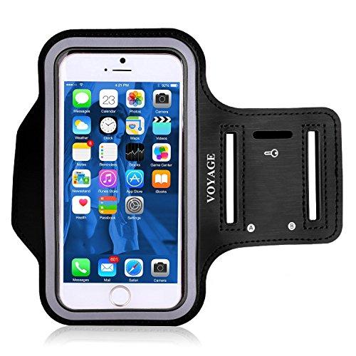 VOYAGE Schweißfest Sport-Armband iPhone,Android - Mit Schlüsselhalter, Kabelfach, Kartenhalter - für Laufen , Wandern , Rad Fahren , Reiten - für iPhone SE/5/5S/5C,Galaxy Trend/S3 Mini/S2 Mini/,bis 4.0 Inch