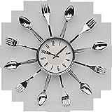 Schäfer Küchen-Wanduhr Küchen-Uhr im 'Besteck'-Design 70457