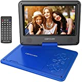 """DBPOWER 9.5"""" Lecteur DVD Portable avec écran orientable, compatibilité carte SD et interface USB, lit directement les formats MP4, AVI, RMVB, MP3 et JPEG (Bleu, 9.5)"""