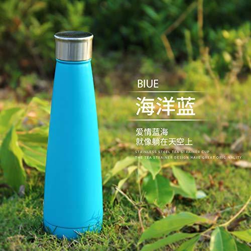 HHYSPA Flone Enjambre Botella De Aislamiento Botella De Acero Inoxidable Hervidor Deportivo Al Aire Libre Turismo 450ml Ocean Blue