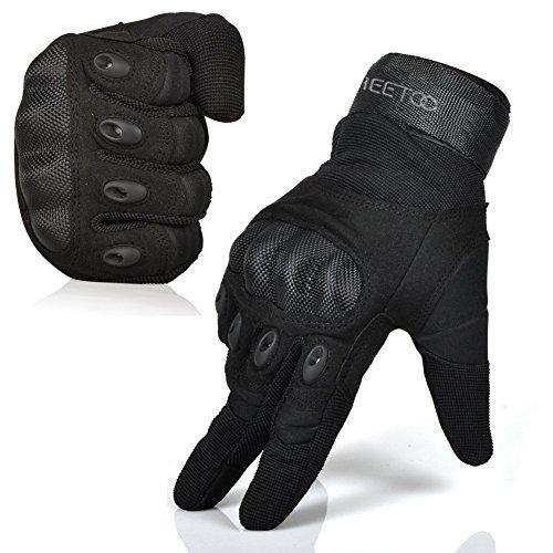 FREETOO Handschuhe Motorrad Herren mit gepolstertem Rückenseite, lebenslange Garantie Abbildung 2