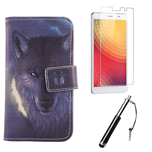Lankashi 3in1 Wolf PU Flip Leder Tasche Für Doogee Y6 Max 6.5
