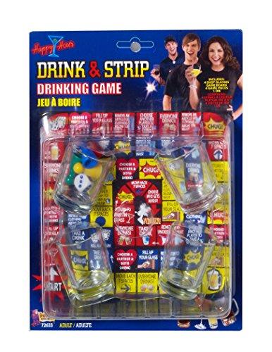 Forum Novelties 72633Party Supplies Drink und Streifen Spiel, multicolor