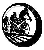 Instant Karma Clocks Orologio da Parete Sport Bici Bicicletta Tour De France Giro d'Italia Ciclismo Cycling, Vinile, Vintage, Handmade