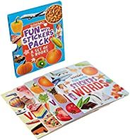 Amazon Brand - Solimo Stickers Pack, Set of 5 Books