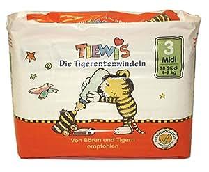 Tiewis Tigerentenwindel 190 couches jetables taille 3 MIDI de 4 à 9Kg