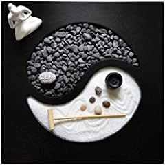 Idea Regalo - Giardino Zen Yin Yang 30x30x1 cm