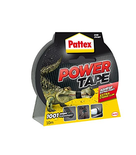 Pattex - Adhésif - Power Tape - Imperméable - 10 mtr - Noir