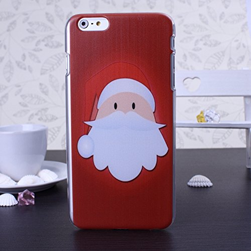 New Christmas Santa Series Snowman Deer Design Kunststoff Hard Case (Weihnachtsgeschenk) für IPhone 6S 6 ( Color : 9 , Size : IPhone 6S 6 ) 6